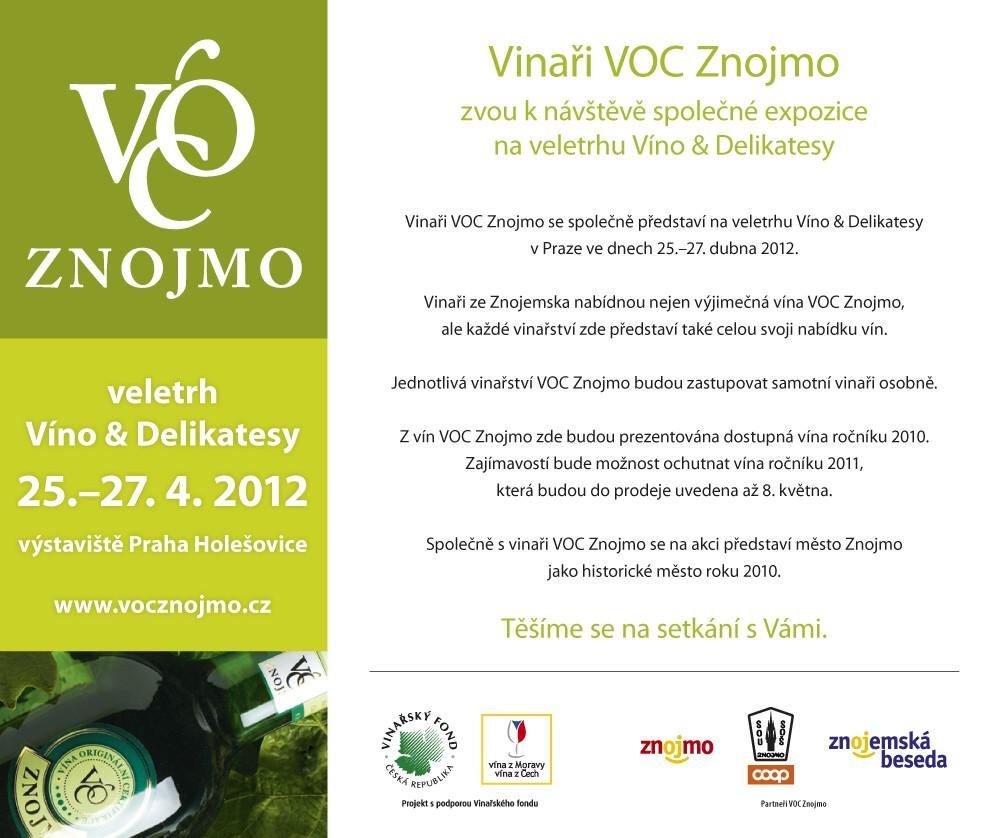 Vinaři VOC Znojmo společně na veletrhu Víno & Delikatesy