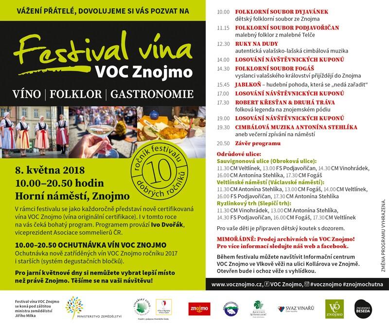 Festival vína VOC Znojmo 2018