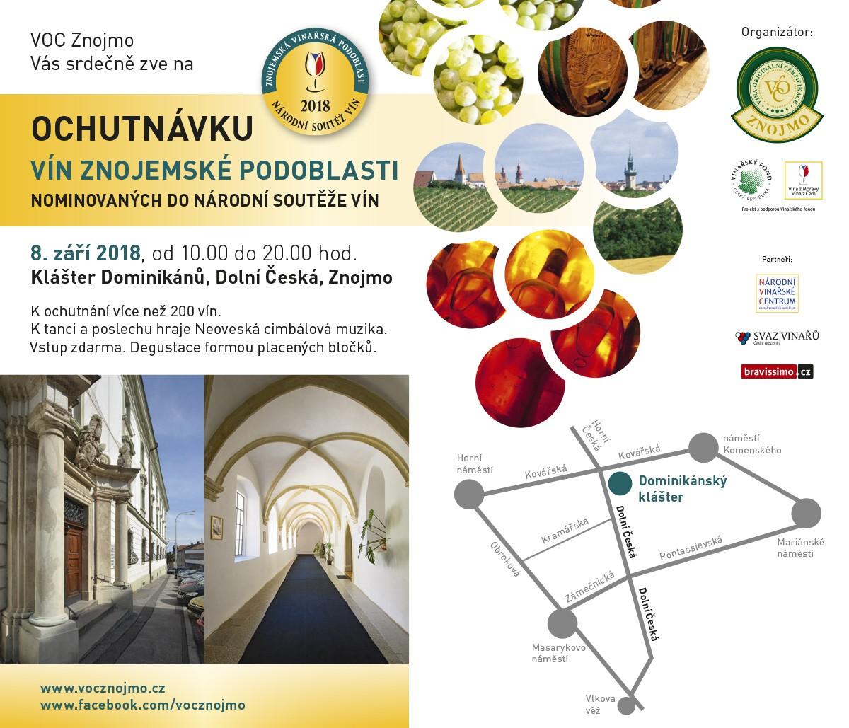 Ochutnávka vín Znojemské podoblasti 8. 9. 2018
