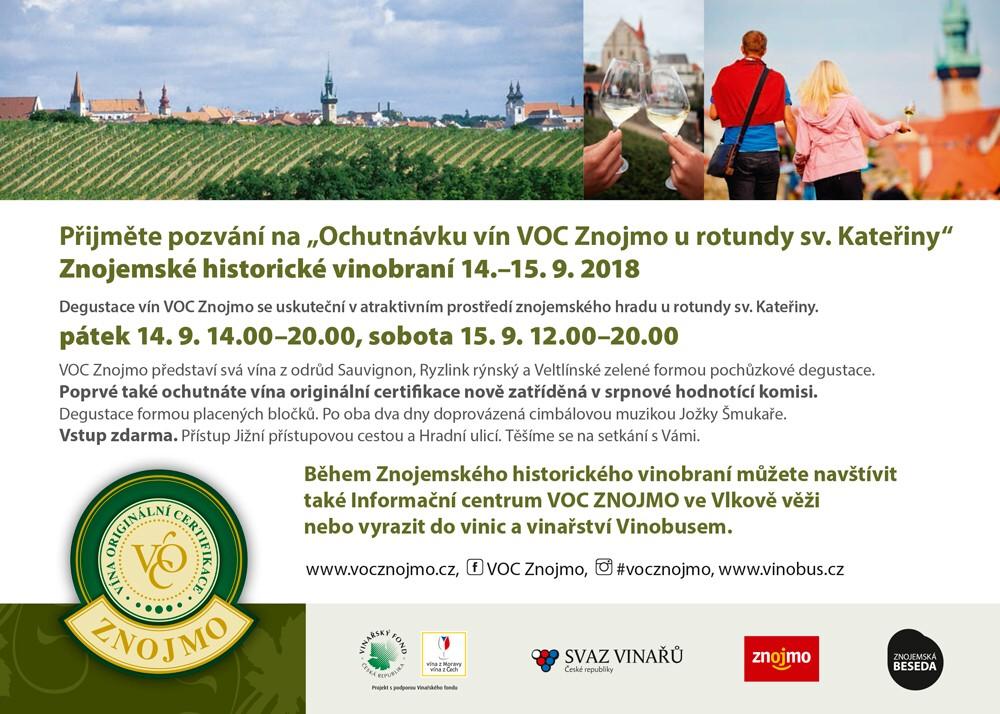 Ochutnávku vín VOC Znojmo u rotundy sv. Kateřiny, Znojemské historické vinobraní 14.–15. 9. 2018