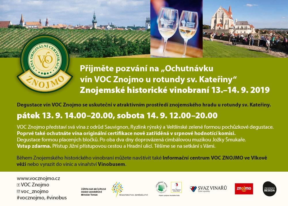 Ochutnávka vín VOC Znojmo u rotundy sv. Kateřiny