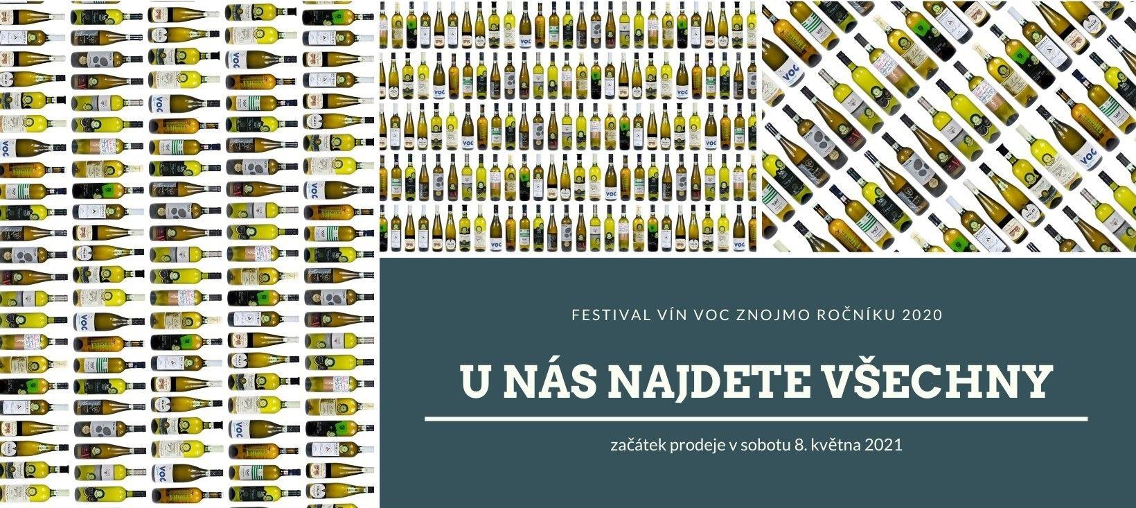 Vinotéka Vínovín Znojmo - vína VOC Znojmo 2020 v prodeji