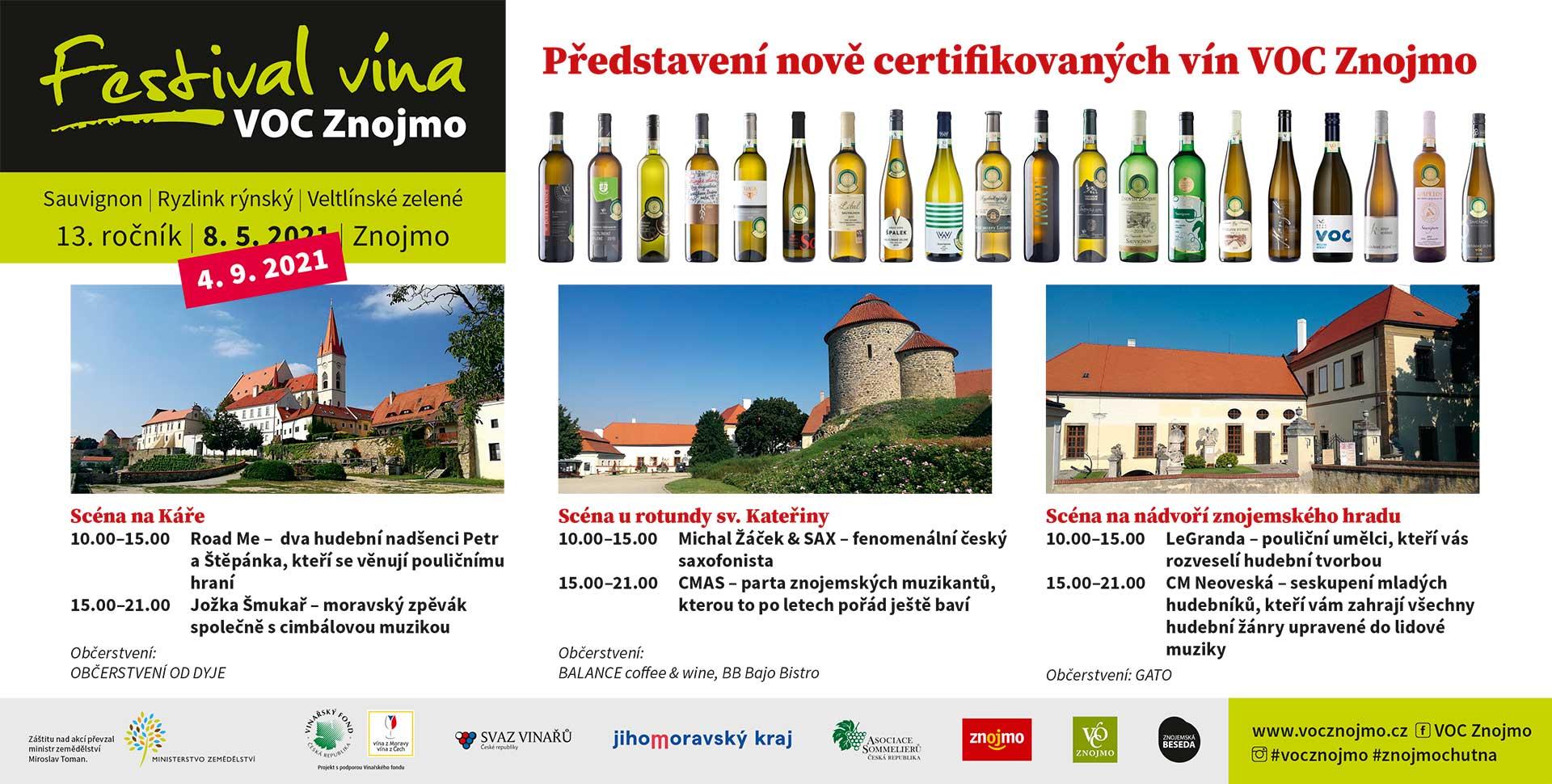 Aktualita: Festival vína VOC Znojmo už za měsíc